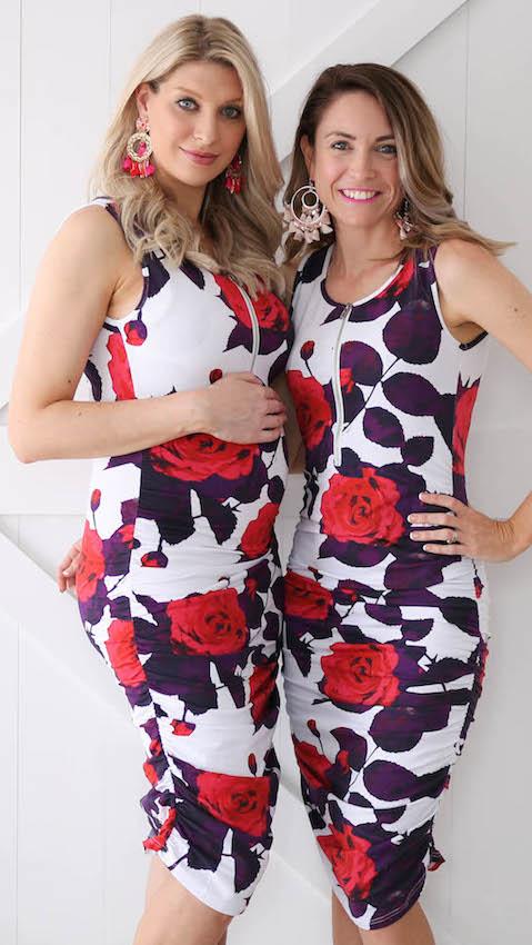 Preggie-VS-Non-Preggie-Red-Floral-Dress
