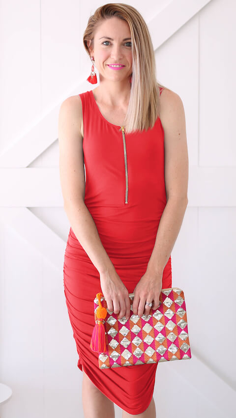 Red-Breastfeeding-Friendly-Tank-Dress-One