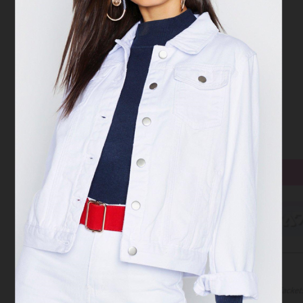 Boohoo-White-Denim-Jacket
