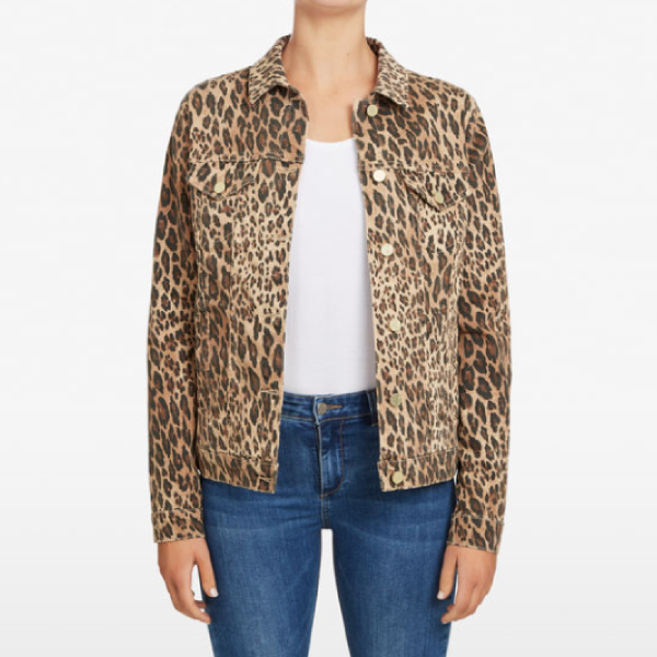 French-Connection-Animal-Print-Denim-Jacket