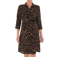 Suzanne-Grae-Animal-Shirt-Dress