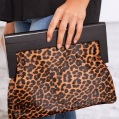 billy j boutique leopard clutch