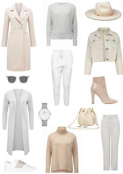 capsule wardrobe winter neutrals