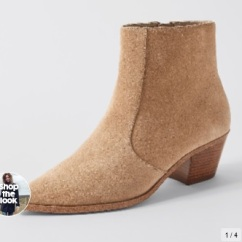 Target Brazil Suede Square Point Boots - Natural